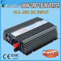 500W pure sine wave Grid Tie Solar Inverter 10.5-28V DC Input For 18V Solar Panel