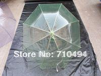 free DHL shipping green advertising umbrella, green transparent umbrella, custom logo print acceptable