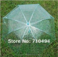 free DHL shipping blue poe/pvc umbrella umbrella, transparent promotion umbrella, custom logo print acceptable