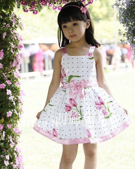 Mädchen kleider große blume mädchen kleider baumwollkleider 4pcs