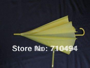 Free DHL shipping yellow eva rain umbrella, promotion&advertising umbrella, auto open, logo print acceptable