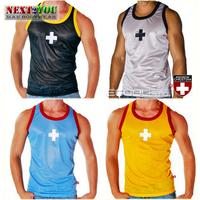 Free Shipping!!-AC Men Vest/ Mens Active Undershirt/ Men Sport Tank Tops/ 4 Colors (N-189)