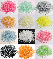 Free shipping Wholesale 4000pcs/bag 4mm ABS Half Round Pearls Flatback Jewelry Garment Accessory Diy 005003002(4)