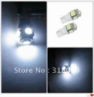100 x  T10 194 168 W5W 5050 5SMD 5 LED High Power LED Light Bulb white