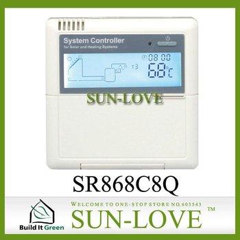 SR868C8Q Solar Working Station Controller,Pump Station Controller,Solar Collector Controller,110V/220V,LCD Display