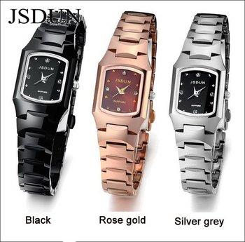 JSDUN Brand Luxury Women Dress Rhinestone Wrist Watch Fashion Top Grade Tungsten Steel Quartz Watch Sapphire Waterproof 137