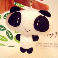 Free Shipping/ Cute Lovely panda / mobile phone strap Pendant / Fluffy charm/ Wholesale/ V 9858 V