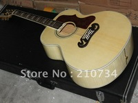 Wholesale - selling natural color acoustic SJ200 Guitar  In stock Free shipping