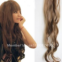 Free shipping-2clip-in hair extension curly clips hair 50cmX8cm 10pcs/lot 4colors available-can use heat