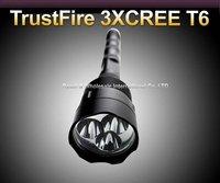 Trustfire 3T6 Flashlight 5 Mode 3800 Lumens 3 * CREE XM-L XML T6 LED Flashlight 3* 18650 Battery Extendable High Power Torch