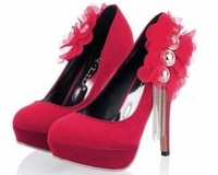 Women Sexy Party Shoes Platform High Heel Shoes Crystal chain With high Wedding Shoe