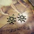 Min.order $10(mix order)Bronze Plated(10PCS) Jewelry Accessory Rudder Charms(98#) 20*23 mm