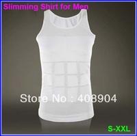 20pcs/lot White/Black Slimming vest for men slimming lift body suit(Retail box)