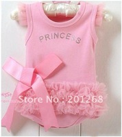 Free shipping Princess dress 3 pcs/lot ,baby rompers dress High Fashion baby dress,baby clothing