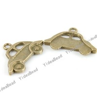 Wholesale - 100pcs New Arrival Vintage  Antique Bronze Car Charms alloy pendants Beads Jewerly Charms fit necklaces 140917-100