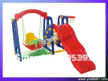 Дети качели и детская горка, Дети играют оборудование, Детская площадка