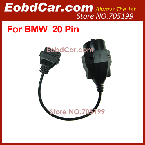 Cheapest For BMW 20 PIN OBD2 Adaptor Cable(Hong Kong)