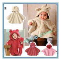 new freeshipping baby winter coat/child cloak fleece/children winter jaket/baby robe/hooded/baby outwear/childen's clothing/5pcs
