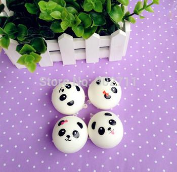 4 Style Kawaii Mini Panda Couple Squishy Cell Phone Charm/Free Shipping
