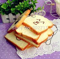 20pcs 8CM Jumbo Cute Face Toast Squishy Phone Charm/Key Chain/Free shipping