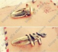 Free Shipping - Wholesale New Style Fashion Jewelry 30pcs/lot Ancient Silver&amp;Bronze Ring Snake Nails Ring