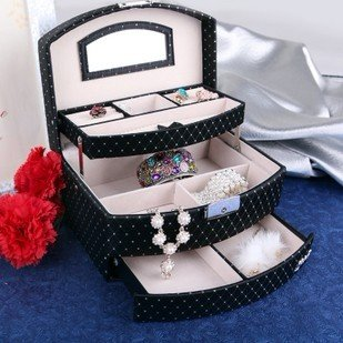 Free Shipping, Girls Jewelry Box, Fashion Fabric Jewelry boxes.