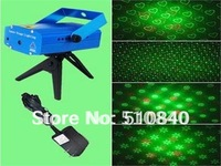 4 Patterns Mini Red & Green Moving Party Laser Stage Lighting Light semiconductor DJ Club 110-240V 50-60Hz With Tripod LB-06-4E