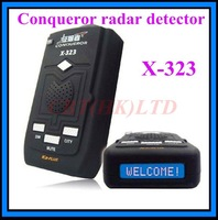 2012 New 100% original Conqueror X323 radar detector support X-Band ku-band k-band KA-Band Laser VG-2