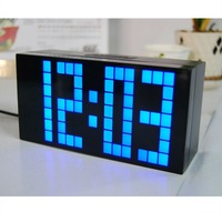 Hot 2014 FREE SHIPPING! Digital LED DIY Desktop Clock big number wall atmos clocks with Temperature Calendar back light