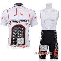 Free shipping+Polyester +COOLMAX+2010 white-black MERIDA Cycling Jersey+BIB SHORTS Bike Sets Clothes Cycling wear/bike wear