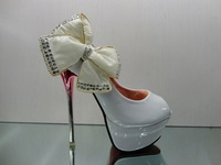 Fashion ladies shoes,sexy  high heel wedding shoes , white and black color, free shipping