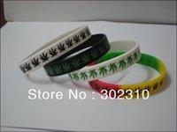100pcs Cannabis Bracelet, Silicon Bracelet with Cannabis Leaf, Hip Hop Band, Printed Bracelet, Promotion Gift, Free Shipping