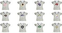 Free shipping-Wholesale American Football Sideline Legend Authentic Logo Women Zebra Stripes T-shirts,5Pcs/Lot