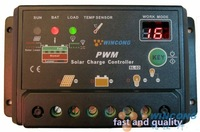 New Upgrade version ! 10A Solar Charge Controller Regulator 12V 24V auto switch with With two digit display + FreeShipping