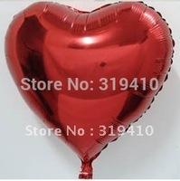 18 inch foil Heart balloon metallic balloons (RED)