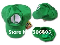 Free shipping 2012 NEW hat Wholesale 15pcs/lot  Mario Bros Anime Cosplay Hat,super mario hat baseball cap luigi Cap