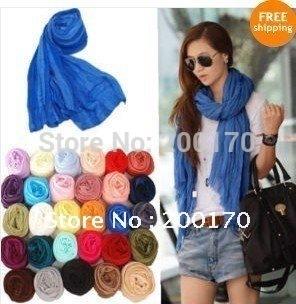 Hotsale 180cmx100cm 24 colors ladies shawls scarf can be MUSLIM HIJAB cotton Drape Fashion patchwork shawls scarf