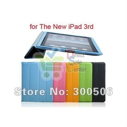 for iPad 3 Smart Cover,Front and Back Full Body Smart Cover for The New iPad 3 3rd HD Plus Wholesale DHL Free Shipping(China (Mainland))