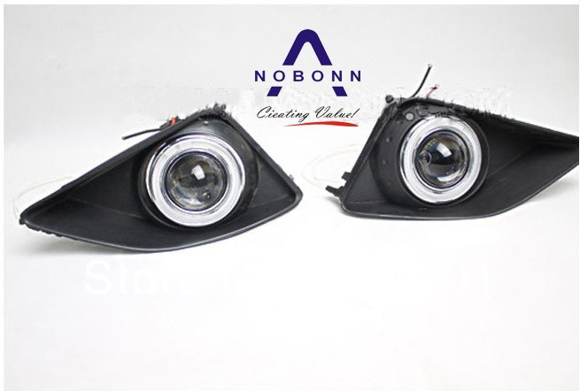 Free Shipping!55/35W HID xenon/Halogen 2008~2010 TOYOTA Corolla Fog Lamp with projector lens and HID bulb,slim ballast,CCFL eyes(China (Mainland))