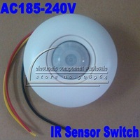 5pcs/lot Ceiling Wall Mount IR Infrared Motion Sensor Automatic Light Lamp Switch AC185-240V