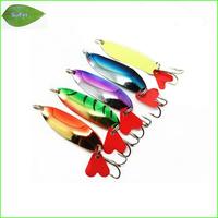 Free Shipping Mix 5 pcs /set Fishing Lure fishing spoon metal fishing lure bait spool