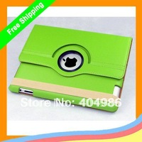 50pcs/lot Magnetic Smart Cover Leather Case for ipad 2 with 360 Degrees Rotating Stand + DHL Free shipping