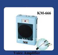 DHL Free Shipping 15W PA Digital Portable Waistband Megaphone  With LCD Display (KM-666 Black)