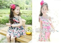 Free Shipping 5/LOT one-piece dresses sweety girl dress flower dress