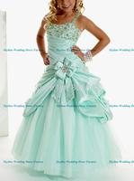 Hot Sale spaghetti straps Flower Girl dress Custom-size/color wholesale/retail Sky-711