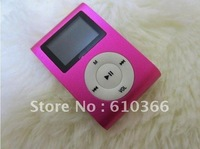 Low Price 50pcs Clip Mp3 Player Card Reader Mp3 Player no memory support TF SD Card with screen large supply free shipping