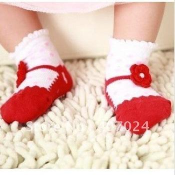 Wholesale baby infant girls socks hose hosiery cotton Thin baby antislip socks footwear Spring Summer wearing 1-3T 670020