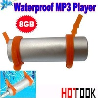 HOT ! water resistance IPX8 8GB waterproof mp3 player swimming mp3 can be used when swimming diving surfing  - - free shipping