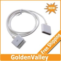 $10 off per $300 order 30 Pin Dock Extension Extender Cable for iPhone, iPod (100cm,White)