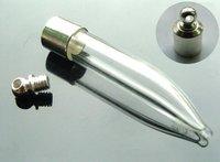 Free shipping!!!! 6mm  Essential oil vial pendants,mini/glass pepper vial pendants GVP0001